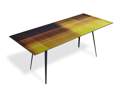 Color Pixel Furnishings - The Hi Def Table Collection is Adorned With Gradient Print Graphics
