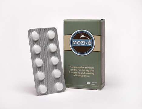 Edible Insect Repellent - Mozi-Q is an All-Natural Insect Repellent in the Form of a Pill