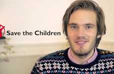Charitable YouTuber Campaigns - PewDiePie's '25 Million Bros' Are Fundraising for Save the Children