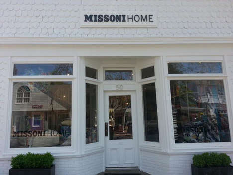 Bohemian Design Retailers - The MissoniHome South Hampton Store Resembles an Eclectic Residence