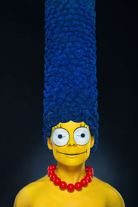 Lifelike Cartoon Photography - This Looks Like a Photoshop 3D Marge Simpson But is a Real Woman