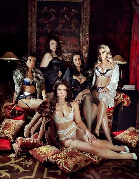 Voluptuous Lingerie Fashion Ads - The Model 1 Curve Campaign Showcases Its Plus-Sized Models