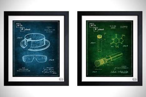 Pop Culture Blueprint Art - The Breaking Bad Blueprints by Oliver Gal Make for Amazing Wall Hangings