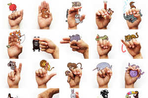Artist Alex Solis Makes Sign Language Fun by Adding Cartoons to The Alphabet