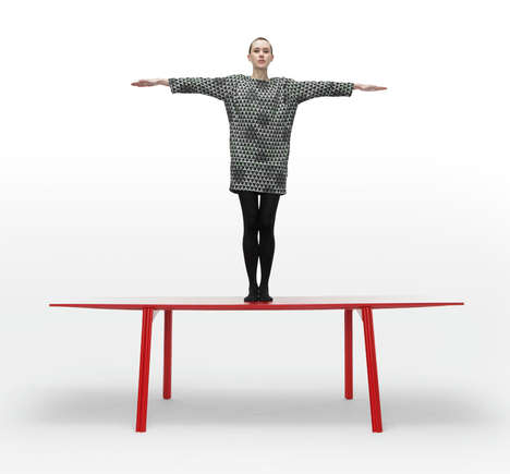 Extreme Lightweight Tables (UPDATE) - The Ripple Table 2.0 by Benjamin Hubert Weighs Even Less