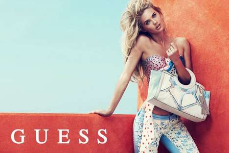 Smolderingly Vibrant Fashion Ads - The Guess Spring 2014 Accessories Campaign Stars Megan & Heather