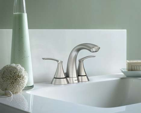 Contemporary Crafty Faucets - The Moen Darcy Bathroom Collection is Stunning and Fresh