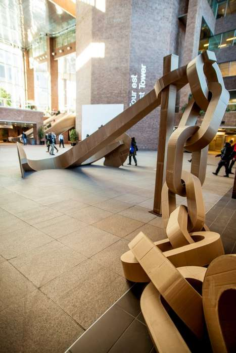 Cardboard Anchor Installations - Sophie Cardin Creates Accostage for the Art Souterrain Festival