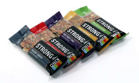 Unusually Savoury Granola Bars - This Healthy Snack Company Introduces the Strong & KIND Snack Line