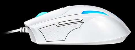 High-Performance Gaming Peripherals - The High-Tech BLACK Snow Mouse is Made for Serious Gamers