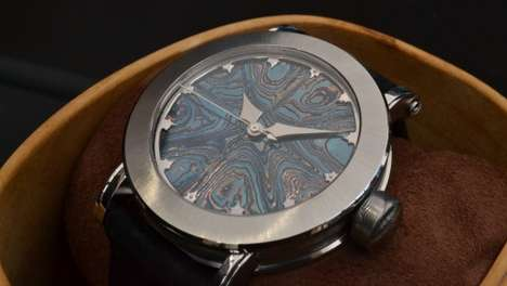 Swanky Scandinavian Steel Watches - The Bifrost Isbla Watch is Inspired by Nordic Mythology