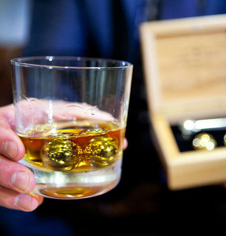 Gold-Plated Whiskey Chillers - You Can Now Sip Your Whiskey in Style with a Set of Whiskey Balls
