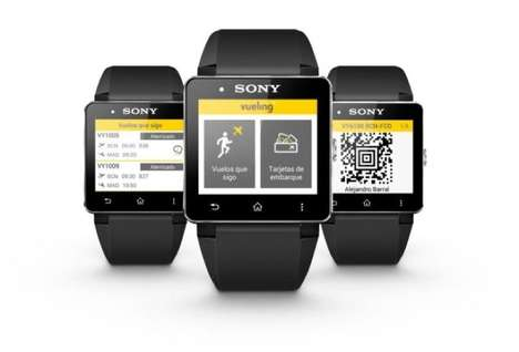 Wristwatch Boarding Passes - The Sony SmartWatch 2 Can Function as a Wearable Boarding Pass
