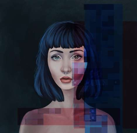 Deceptively Digitalized Portraits - These Self-Portaits are Created Via Computer by Kemi Mai