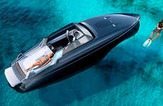 Luxury Drop-Top Yachts - This Hardcover Luxurious Yacht Has Three Different Roof Configurations