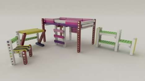 Real Life LEGO Furniture - The Olla Building Blocks Can Be Used to Build Chairs, Desks, Beds & More