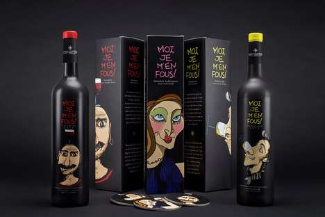 Caricatured Beverage Branding -