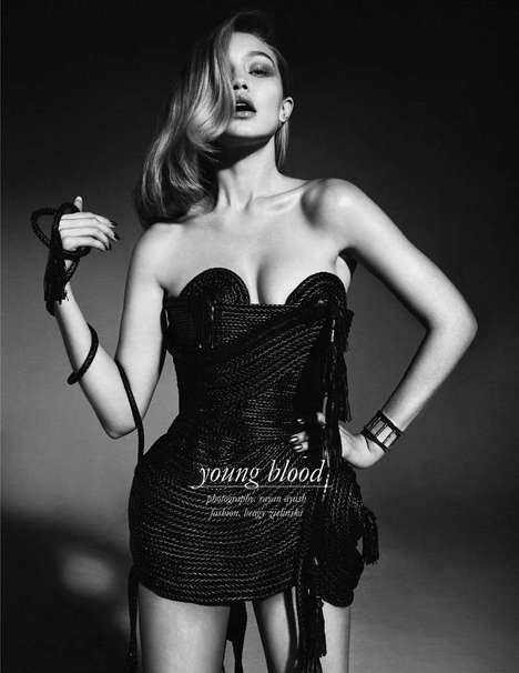 Vampy Vixen Editorials - The Schon Magazine Issue 24 Cover Shoot Stars Gigi Hadid