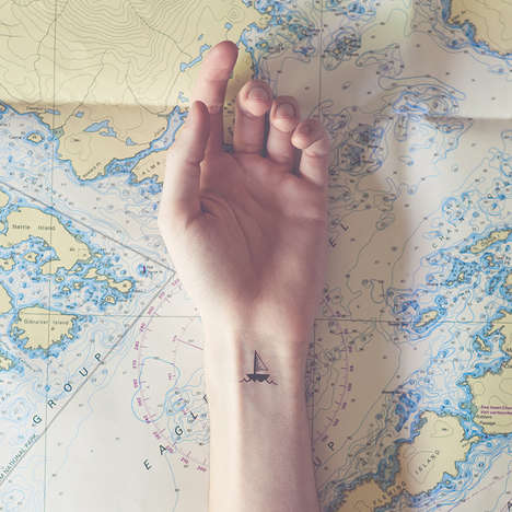 Surreal-Surrounding Tattoo Photography - Tiny Tattoos by Austin Tott Boast Matching Environments