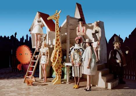 Living Dolls Editorials - The W Magazine 'Babes in Toyland' was Shot by Photographer Tim Walker