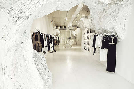 Glacial Retail Interior Design - The Sass & Bide New York Flagship Store Welcomes Winter to Stay