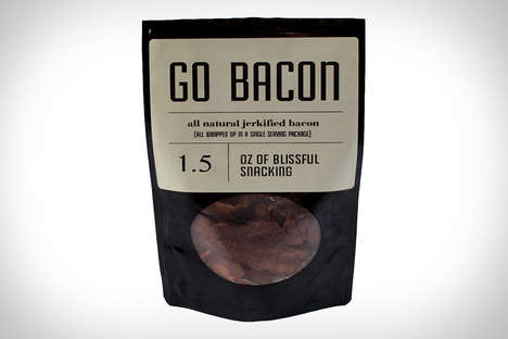 Portable Bacon Jerky - Go Bacon Ensures People Always Have a Meaty Snack on Hand