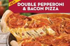 Full Bacon-Layered Pizzas - Papa John's Adds a Layer of Bacon to Its Double Pepperoni Pizza