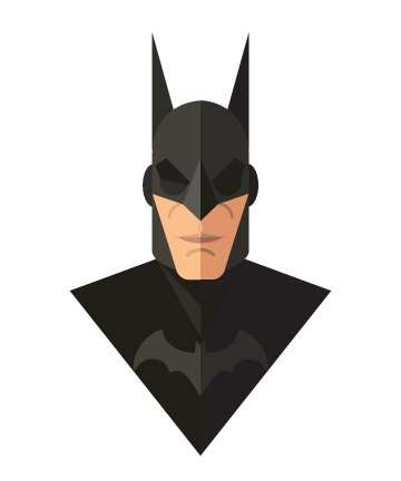 3D Superhero Art - The Flat Design Superheroes by Jeffrey Rau Creates a 3D Flat Feel