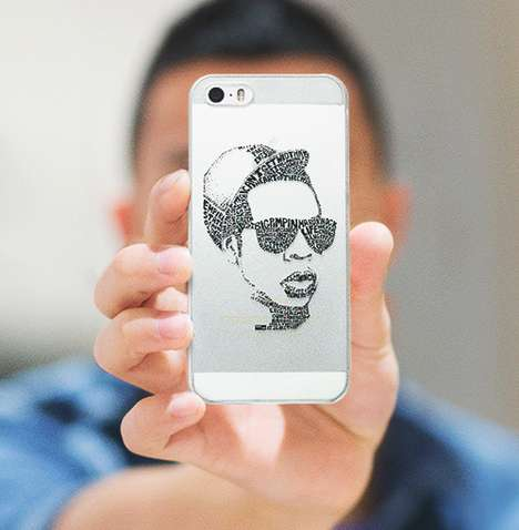 Lyrical Portrait Phone Cases - Casetagram Unveiled Its Celebrity Lyrical Portrait Cases for iPhones