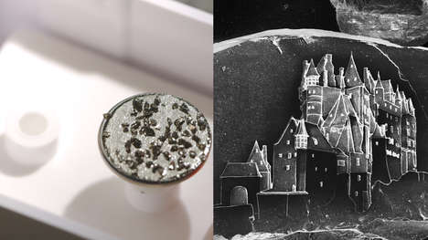 Minuscule Carved Sand Castles - These Sand Castles are Made From One Grain of Sand