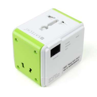 Smart Travel Internet Routers - The Satechi Smart Travel Router Combines a Router & Travel Adapter