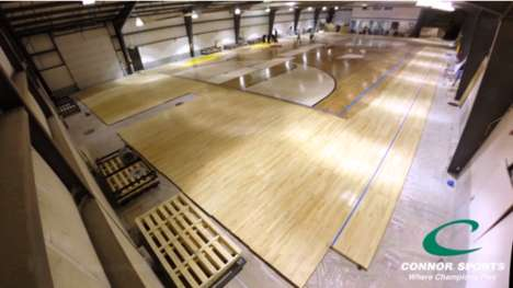 Time-Lapse Court Creations - The Court for the March Madness Final Four is Ready for Game Time