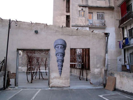 Ancient Greek Street Art - HOPE Uses Classical Sculptures to Breathe Culture into Street Art