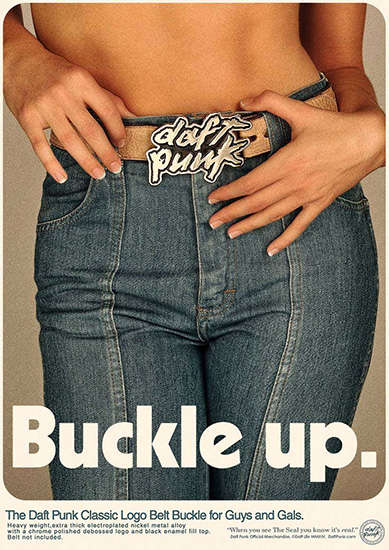 Retro Band Merch Ads - These Daft Punk Poster Ads Go Back in Time to Promote Its Album