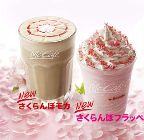 Cherry Blossom-Inspired Beverages - McDonald's Sakuranbo Frappe & Mocha Celebrate Sakura Season