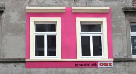 Mini Makeover Billboards - The Obi Renovated Billboards Make Buildings More Beautiful