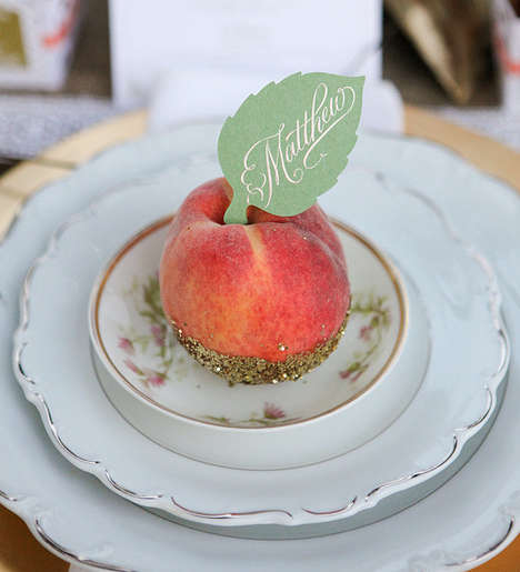 Peachy Place Cards - The Dinner Party DIY Project That is Sweet and Inexpensive