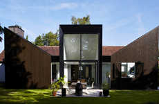 Sun-Capturing House Extensions - Each Part of This Extension is Orientated to Capture Sunlight