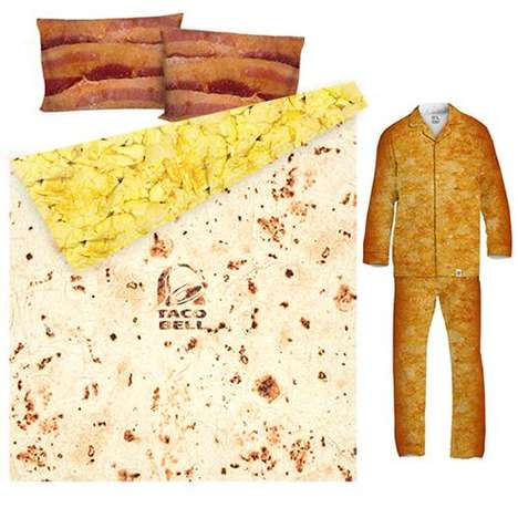 Taco-Breakfast Sleepwear - You Can Now Eat & Sleep With The Taco Bell Breakfast Waffle