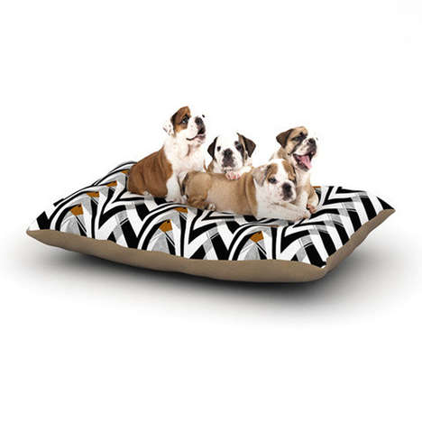 Modern Art Doggie Beds - KESS InHouse Makes Gallery-Worthy Canine Funiture