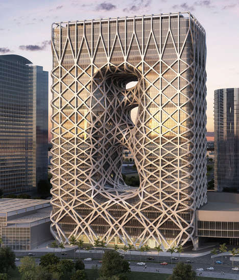Woven Cage-Covered Hotels - The City of Dreams Complex in Macau is Designed by Zaha Hadid