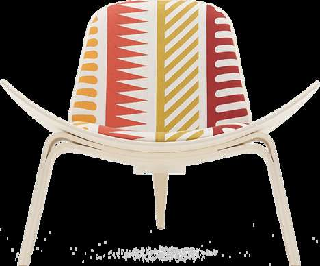 Celebratory Designer Seats - The Maharam Shell Chair Project Fashionably Revamps the Classic Design