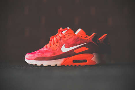 Radiant Red Runners - The Nike Air Max 90 Ice