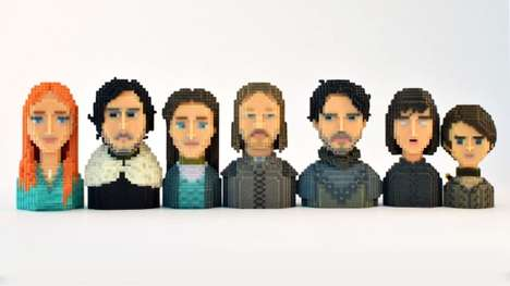 Pixelated Fantasy Show Characters - Game of Thrones by LeBlox Digitize Fan's Favorite Characters