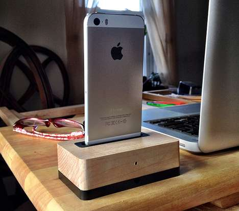 Stylish Timber Smartphone Docks - The 'EpicDock' Smartphone Charging Dock is Elegant & Sturdy