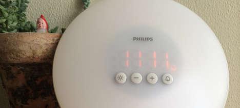 Sunrise-Simulating Alarm Clocks - The Philips Wake-Up Light Uses Light & Sound to Gently Wake You Up