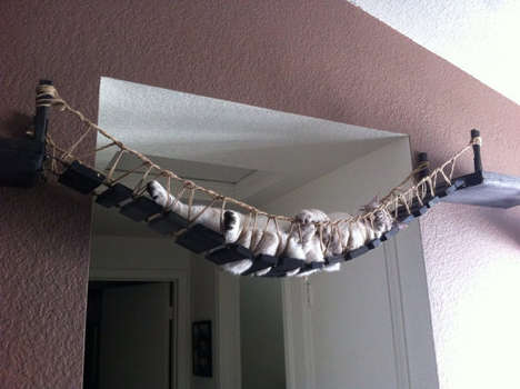 Bridge-Like Pet Loungers - CatastrophiCreations