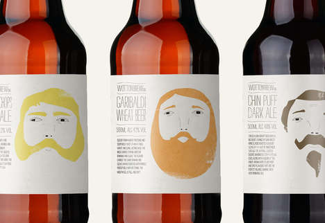 """beer bottle labels"""