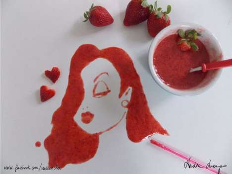 Manipulated Food Doodles - Nadia Luongo Makes Magnificent Portraits Out of Meals