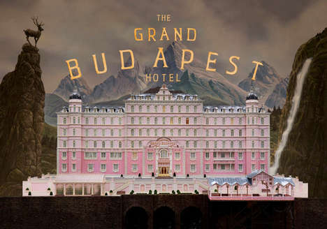 Psychedelic Film Graphic Designs - The Grand Budapest Hotel Graphic Designer Creates Fictional Magic